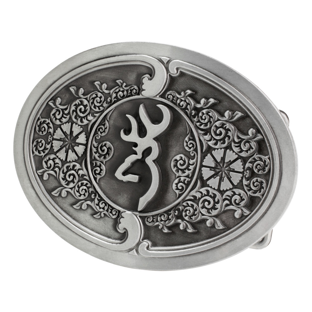 browning silver belt buckle l high springs leather
