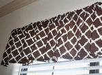 Brown and White Valance