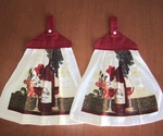 Hanging Dish Towel Set - Time for Wine