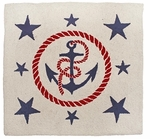 Anchors Away 3' x 3' Hand Hooked Wool