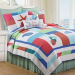 Antigua Bay Twin Quilt Set