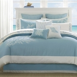 Coastline Comforter Cal King Set - Blue