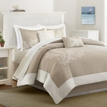 Coastline 6 Piece Comforter Set - Beige
