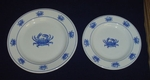 Crab Dinner Plates - Set of Four