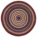 5' Round Hooked Rug