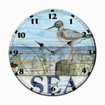 Shore Bird Sea Clock