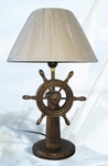 Wooden Wheel Lamp