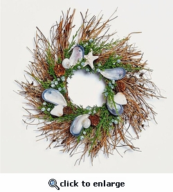 Wreath with Natural Shells