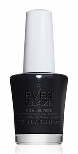 China Glaze EverGlaze Extended Wear Nail Lacquer, Back To Black