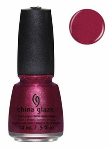 China Glaze Nail Polish, Santa Red My List 1253