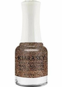 Kiara Sky Nail Polish, Strike Gold N433