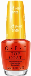 OPI Sheer Tints Top Coat, I'm Never Amberrassed NTS01
