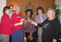 Ladies of Mimosa Lane Church being Pampered at our Shoppe