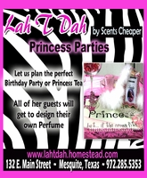 Lah T Dah Princess Parties and Teas
