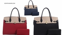 Miss Washington DC Handbag w/Wallet - 5 Color Choices
