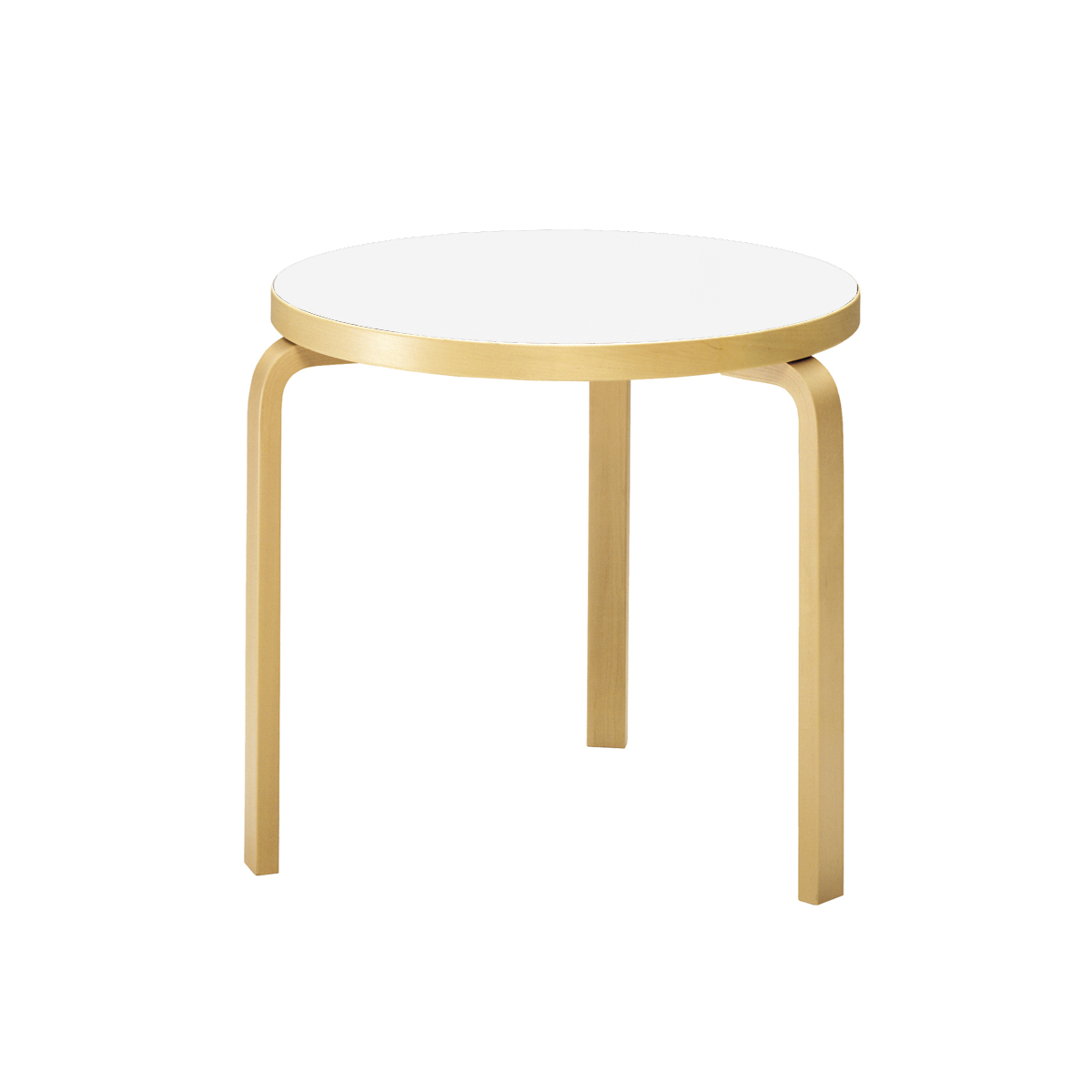 Artek Alvar Aalto Round Three Legged Table 90b Dining And Conference Tables