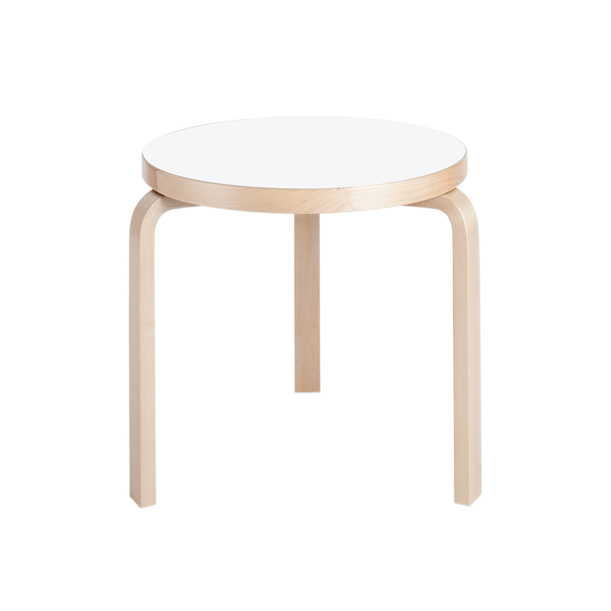 Artek Alvar Aalto Round Three Legged Table 90c Dining And Conference Tables