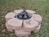 4 piece Small Outdoor Woodland Log Set