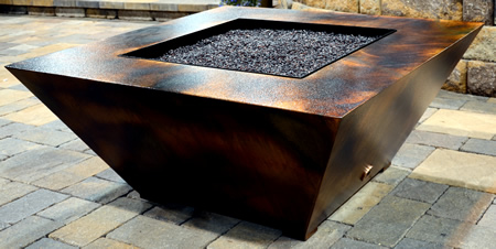 square fire pit table parallax square pit table remote controlled 30218