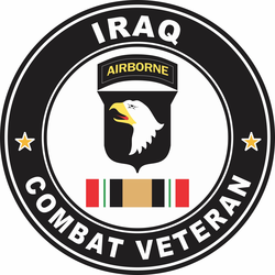 101st Airborne Division Iraq Combat Veteran Decal