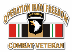 "101st Airborne Iraq Combat Veteran 8"" Die-Cut Vinyl Decal Sticker"