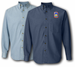 108th AirDef Artillery Brigade Denim Shirt