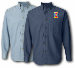 10th Air Defense Artillery Brigade Denim Shirt