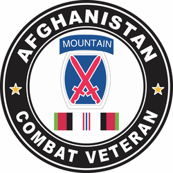 10th Mountain Division Afghanistan Combat Veteran Decal
