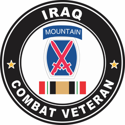 10th Mountain Division Iraq Combat Veteran Decal