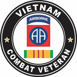 10th Mountain Division Vietnam Combat Veteran Decal