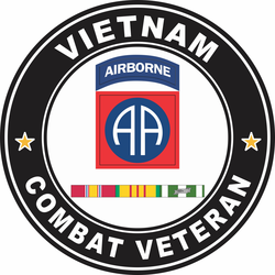 10th Mountain Division Vietnam Service Combat Veteran Decal