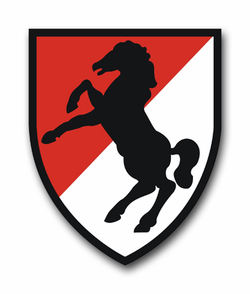 "11th Armored Cavalry Regiment 11.75"" Vinyl Transfer Decal"
