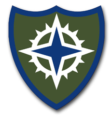 """16th Army Corps 3.8"""" Patch  Vinyl Transfer Decal"""