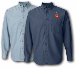 183rd Field Artillery Division Denim Shirt