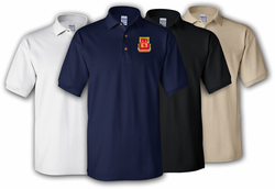 183rd Field Artillery Division Unit Crest Polo Shirt