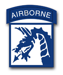 18th Army Airborne Corps Patch  Vinyl Transfer Decal