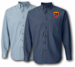 194th Armor Brigade Denim Shirt