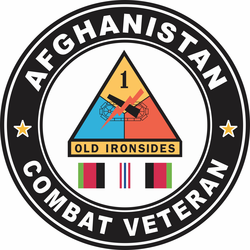 1st Armored Division Afghanistan Combat Veteran Decal