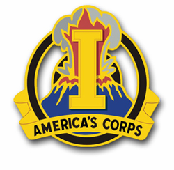 "1st Army Corps Unit Crest 3.8"" Vinyl Transfer Decal"