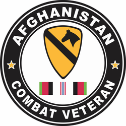 1st Cavalry Division Afghanistan Combat Veteran Decal