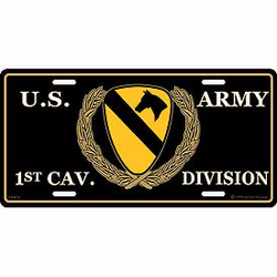 1st Cavalry Division License Plate