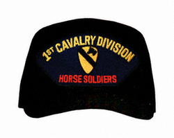 "1st Cavalry ""Horse Soliders"" Logo Ball Cap"