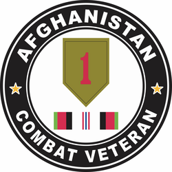 1st Infantry Division Afghanistan Combat Veteran Decal