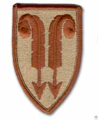 22nd Field Army Support Desert Military Patch
