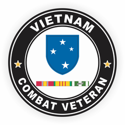 23rd Infantry Division Vietnam Combat Veteran with Ribbons Decal