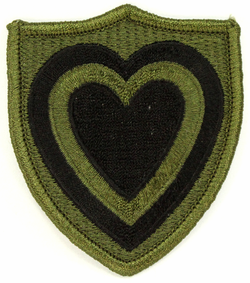 24th Army Corps Subdued 2.75 Inch Patch
