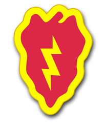 """25th Infantry 3.8"""" Patch Vinyl Transfer Decal"""