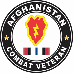 25th Infantry Division Afghanistan Combat Veteran Decal