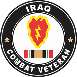 25th Infantry Division Iraq Combat Veteran Decal