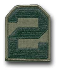 2nd Army Subdued Military Patch